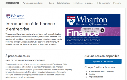 An Introduction to Corporate Finance – Coursera